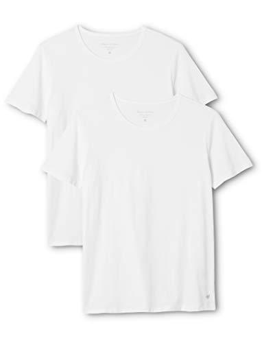 Marc O\'Polo Herren Rundhals Shirts Doppelpack, Weiß (Weiß 100), Small