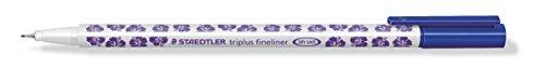 STAEDTLER Feinschreiber triplus fineliner, ca. 0,3 mm, blau, Einzelstift