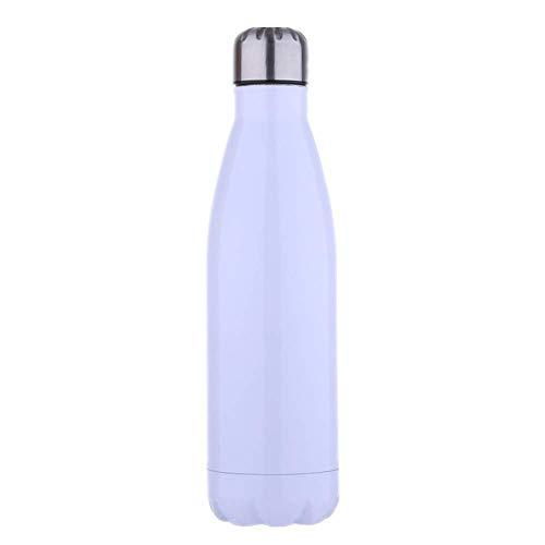 Lyzwell Thermos Flaschen Tragbare Wasserflasche des Kreativen Outdoor-Sports 304 Aus Rostfreiem Stahl Mit Doppeltem Vakuumsauger Helles Weiß Nissan Thermos Mug