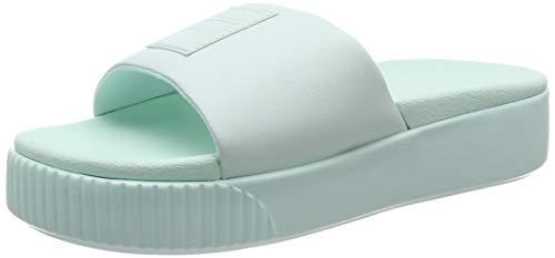 Puma Platform Slide Wns, Zapatos de Playa y Piscina para Mujer, Azul Fair Aqua, 39 EU