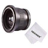 Neewer® 52MM 0.35X Fischaugen Super-Weitwinkel-Objektiv mit Makroabschluß oben Objektiv für Nikon D5300 D5200 D5100 D3300 D3200 D3100 D3000 DSLR-Kameras + Mikrofaser Reinigungstuch