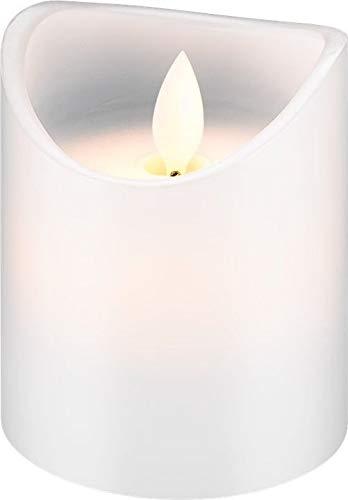 LED Echtwachs-Kerze 10cm hoch, weiß wunderschöne und sichere Lichtlösung für viele Bereiche wie Haus und Loggia, Büros, Schulen oder Seniorenheime