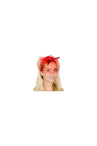 Gewächshaus, Motiv: Voilette rot mit Federn (Kate Middleton Halloween Kostüme)