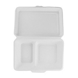 Vegware compostables 9 x 6in 2 compartiments Cater Clamshell (lot de 50)