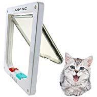 Ceesc, gattaiola per porta magnetica con sistema di bloccaggio a 4 modalità per cuccioli e cani di piccola taglia, 3misure e 2opzioni di colori