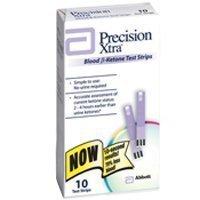 Precision Xtra Blood Ketone Test Strips - 10 ea - In Box