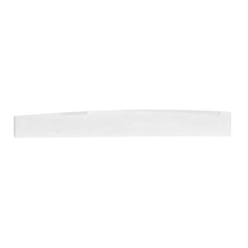 Elfenbein-Weiß 2,83 x 0,35 x 0.12inch Klassische Buffalo Bone Gitarren-Brücke Sattel-Ersatzteile für 6 Schnur Akustikgitarre -