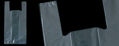 Dalbags Buste 50 Pz Sacchetti Shopper Altamente Trasparente Spessore 100 my Formato 38+26x55