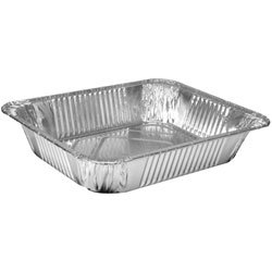 12 Large Heavy Foil Trays & Foil lids (Made in USA) BBQ