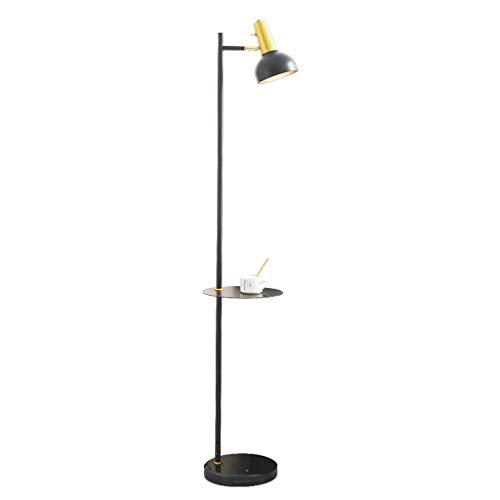 Home mall- Modern Metall Stehlampe, Stehleuchte mit Eisen Lampenschirm Und Marmor Basis for Wohnzimmer Schlafzimmer 156cm / 61