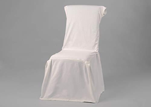 Housse de chaise en coton, de couleur blanche, Amadeus