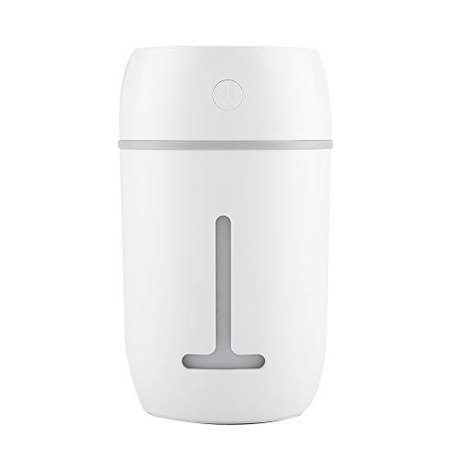 FTVOGUE Humidificador portátil Difusor USB Recargable humidificador ultrasónico con 7 Colores de luz LED para el Coche de Escritorio en casa