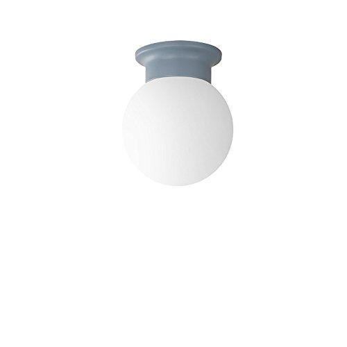 Orientalische Decken-ventilatoren (KMYX Einfache und moderne Macaron kleine Deckenleuchte für Balkon Treppe Flur Flur Eingang Deckenleuchte E27 Sockel Glasschirm Decke Leuchte ( Color : Blue ))