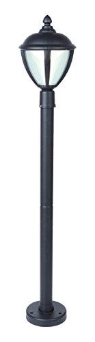 Lutec unite lampada da esterno a led integrato 9 w, nero, 16.5 x 98.5 cm