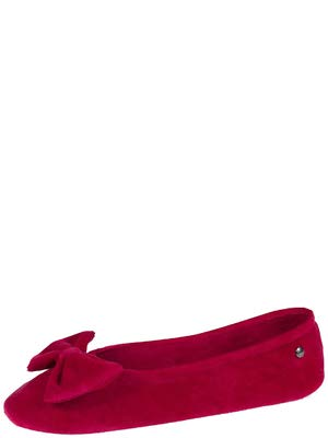 isotoner-Pantofole per Donna, Rosso (Red), 35/36 EU
