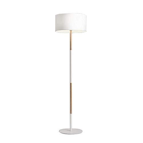 WLG Home, Neuheit Stehleuchte- Stehleuchte Nordic Light Stoff Lampenschirm Fußschalter E27 Licht - Fußschalter-leiste