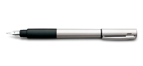 Lamy 1226184 Füllfederhalter M Modell accent Al 096 KK, silber/schwarz