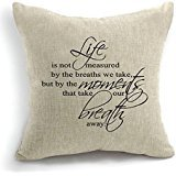 Guse case Quote Words Cotton Throw Pillow Case Home Custom Cushion Cover 18 X 18 Inch One Side