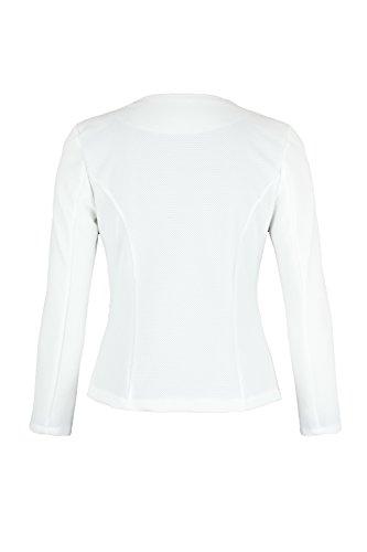AO 4tuality® Blazer kragenlos mit Zipper Weiß