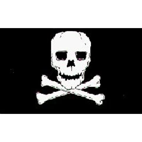 Jolly Roger Pirate Flag Nylon 12 in. x 18 in. by Flags Unlimited, Inc.
