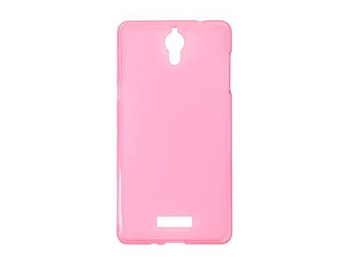 etuo Coolpad Modena 2 - Hülle FLEXmat Case - Rosa - Handyhülle Schutzhülle Etui Case Cover Tasche für Handy