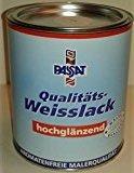 Kunstharz-Weißlack  <strong>Inhaltsstoffe</strong>   Alkydharz, Titandioxid, Testbenzin, Additive
