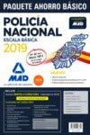 Paquete Ahorro BÁSICO Escala Básica Policía Nacional 2019. (Temario 1, 2 y 3; Test; Simulacros 1, 2 y 3; y acceso a Curso Oro)