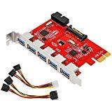MoKo 5 Puertos PCI-E Adaptador Tarjeta Expansión