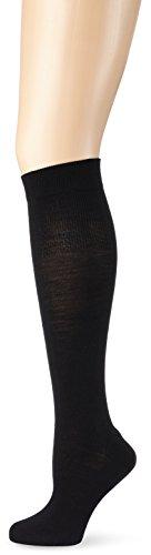 KUNERT Damen Kniestrümpfe Soft Wool Cotton, 100 DEN, Schwarz (Black 0070), 39/42