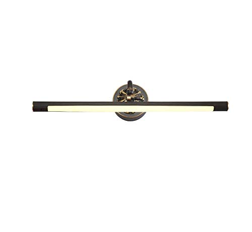 ZHANG NAN ● / American Mirror-Frontleuchte, alle Bronze-LED-Badezimmer Continental Spiegelschrankleuchte WC-Spiegel beleuchtet Badezimmer Make-up-Lampe (Farbe: Schwarzkupfer, Größe: Long56.5cm) ● (Bronze-beleuchtete Make-up-spiegel)