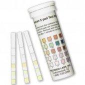 AQU 500 D 50 / Wassertest für Aquarium und Teiche (Meerwasser/Frischwasser) – 50 Teststreifen für Nitrit-, Nitrat-, pH-Wert, Karbonathärte, Wasserhärte – einfach–schnell-genau /Selfcontrol