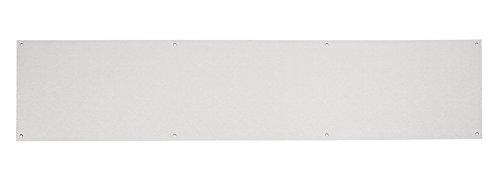 Fire Door Guru Trittschutz für die Tür aus satiniertem Edelstahl, 775x 200mm, 1,2mm,Güteklasse 430,rechteckiger Trittschutz, inklusiveBefestigungsmaterial
