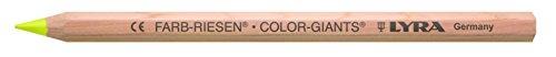 LYRA Farb-Riesen natur Kartonetui mit 12 Farbstiften, leuchtgelb