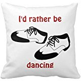 Mens Swing Dance Shoes Id Rather Be Dancing Spats Pillow Case