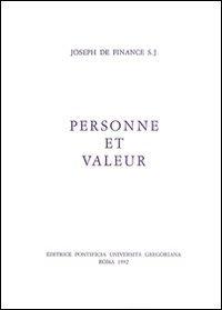Personne Et Valeur par J De Finance