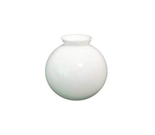 C Smethurst 12.5cm Diamètre Verre Blanc Sphériques Abat-Jour avec col Évasé. Circonférence: 39cm, Col (Largeur extérieure): 5.8cm dia. [éclairage Lumière Ballon Rond Sphère Remplacement Lustre Globe]