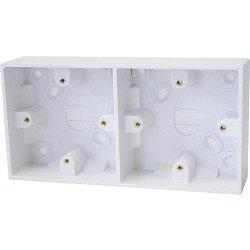Double Gang Back Box Dencon Dual Gang Box (inside 35mm, outside 38mm) Fast Post -