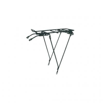 Preisvergleich Produktbild Gepäckträger gitter hinten Stahl Schwarz einstellbar 26 to 28 Fahrrad