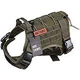 OneTigris Binokular Tactical Service Hund Weste–Wasserabweisend Bequem Military Patrol K9Hundegeschirr mit Griff, Medium, Ranger Green