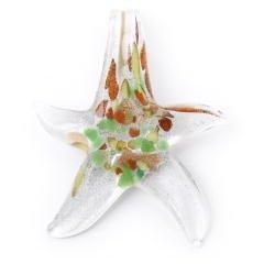 Craft Factory CF01/90301 | Silver Glass Star Pendant Beads