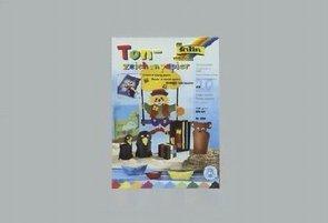 folia Tonpapierblock A4, 10 Farben sortiert 20 Blatt