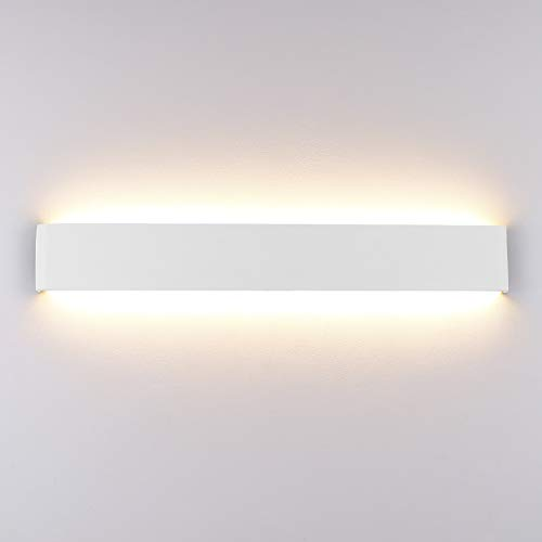 Klighten Aplique Pared Interior LED 20W 60CM Blanco Lámpara de pared para Salon Dormitorio Sala Pasillo...