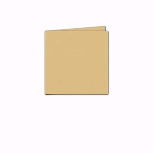 Faltkarte/Doppelkarte - Greenline Pastell Misty Yellow / 100 Stück/Quadratisch 155 x 155 mm