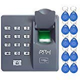 LIBO Clavier biométrique de contrôle d'accès d'empreinte Digitale, 500 utilisateurs, avec 10pcs RFID 125KHz Keyfobs, pour Le système de Serrure de Porte électrique de Maison/Bureau