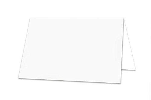 trale universale Blanko-Tisch-Platz-Sitz-Karten-Kärtchen, Namens-Schilder-Karten-Kärtchen, Tisch-Aufsteller, starkes Papier - mit jedem Stift beschreibbar! (Platz-karte)