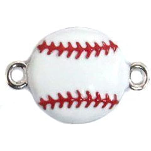 Undee Bandz Rubbzy Enamel Rubber Band Bracelet Charm Baseball by Rubbzy