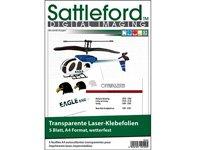 Sattleford 5 Klebefolien A4 für Laserdrucker transparent von Sattleford auf TapetenShop