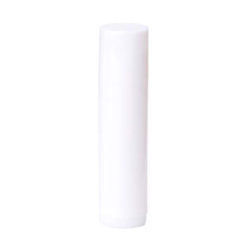 Dabixx DIY Leere Lippencreme, Lippenbalsam, Lippenstift Tube Bottom Twist Containers - Weiß
