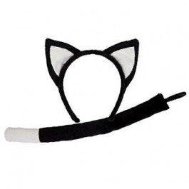 Black Cat (Halloween Zubehör Cat Tail)