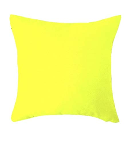 ReneReit Collection Super Soft Cute Stuffed Decor Cushion Pillows Small Gift for Kids Babies Yellow Small Set of 2